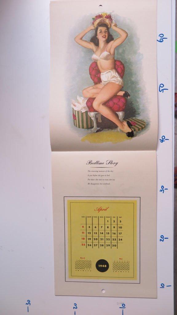 1948 pin up kalender ben hur baz 12 monate. Black Bedroom Furniture Sets. Home Design Ideas
