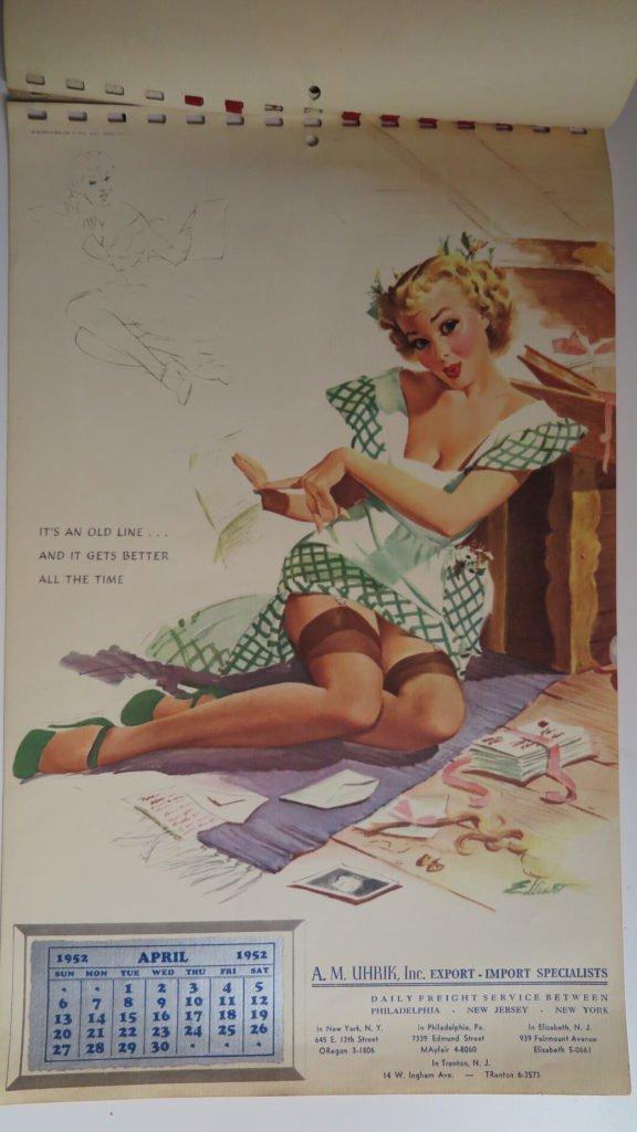 1952 pin up kalender. Black Bedroom Furniture Sets. Home Design Ideas